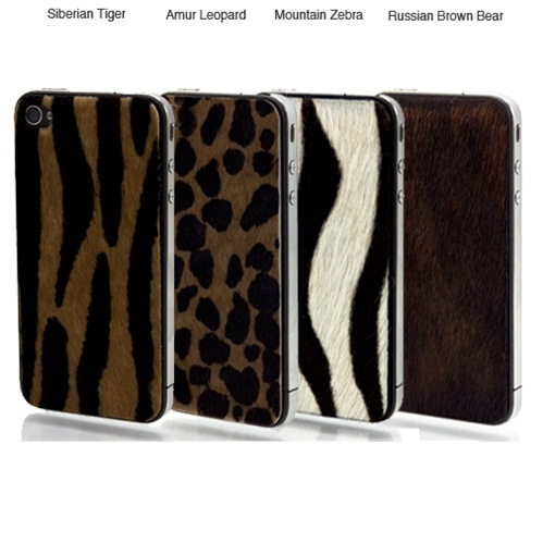 iPhone 4S Animal Print Hair Culf Skin Wraps